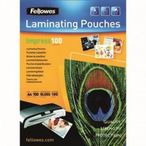 Folie de laminare A4, 250  microni, 100 buc/top, Fellowes - ACOMI.ro