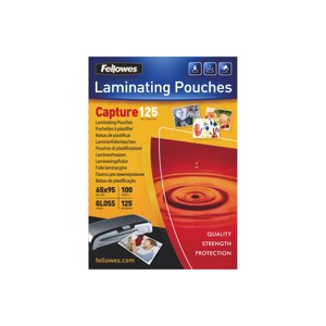 Folie de laminare 65 x 95mm, 125 mic, 100 folii, FELLOWES Capture125 - ACOMI.ro