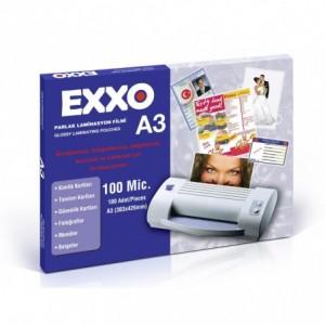 Folie laminat A3, 80 microni, 100 buc/top, EXXO - ACOMI.ro