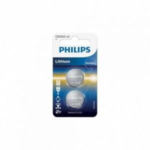 Baterie Lithium 3.0V, 2 buc/blister, 20.0x3.2, PHILIPS - ACOMI.ro