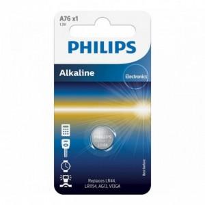 Baterie Alkaline 1.5V 1 buc/blister, LR44/LR1154, PHILIPS - ACOMI.ro