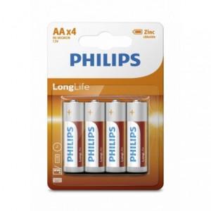 Baterie LONGLIFE AA 4 buc/blister, PHILIPS - ACOMI.ro