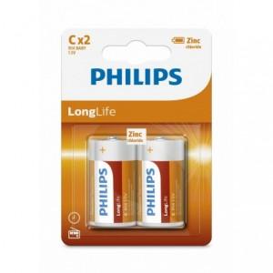 Baterie LONGLIFE C 2 buc/blister, PHILIPS - ACOMI.ro