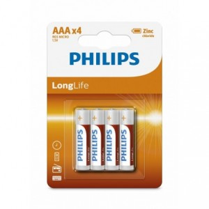 Baterie LONGLIFE AAA 4 buc/blister, PHILIPS - ACOMI.ro