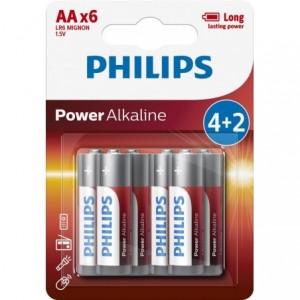 Baterie POWER ALKALINE AA 4+2 buc/blister PROMO, PHILIPS - ACOMI.ro