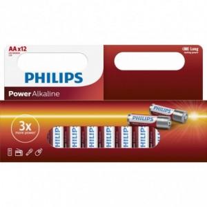 Baterie POWER ALKALINE AA 12 buc/cutie, PHILIPS - ACOMI.ro