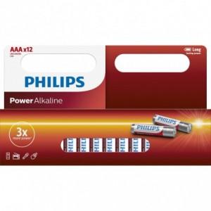 Baterie POWER ALKALINE AAA 12 buc/cutie, PHILIPS - ACOMI.ro