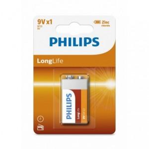Baterie LONGLIFE 9V 1 buc/blister, PHILIPS - ACOMI.ro
