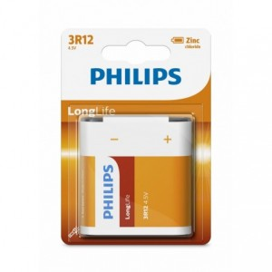 Baterie LONGLIFE 4,5V 1 buc/blister, PHILIPS - ACOMI.ro