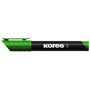 Permanent marker, varf rotund - KORES - verde