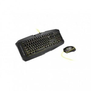 Tastatura gaming Sharkoon Shark Zone GK15, cu fir, negru, Usb - ACOMI.ro