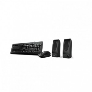 Kit Genius KMS U130 : Tastatura + Mouse optic + Boxe - ACOMI.ro