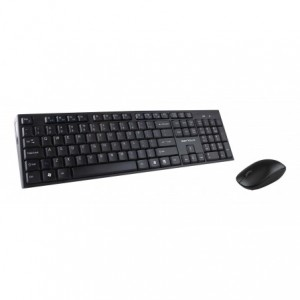 Kit Serioux NK9800WR Wireless : Tastatura + Mouse, negru - ACOMI.ro