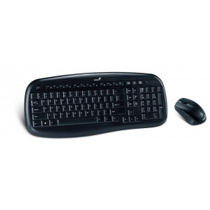 Kit Genius KB-8000X : Tastatura + Mouse, Wireless, Usb, negru - ACOMI.ro