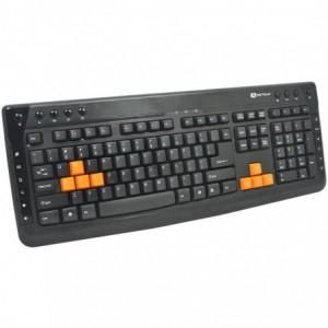 Tastatura multimedia Serioux KB-3300, Usb, negru - ACOMI.ro