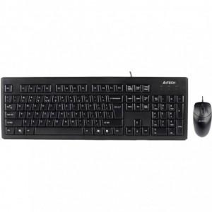 Kit A4tech KRS-8372 : Tastatura + Mouse, Usb, negru - ACOMI.ro