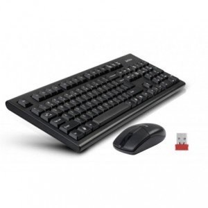 Kit A4tech 3100N : Tastatura + Mouse, Usb, negru - ACOMI.ro