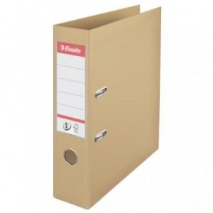 Biblioraft plastifiat de 7.5 cm, nisipiu, A4,  ESSELTE No.1 - ACOMI.ro