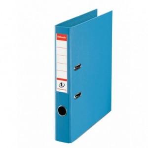 Biblioraft plastifiat de 5.0 cm, cyan, A4, ESSELTE No.1 - ACOMI.ro