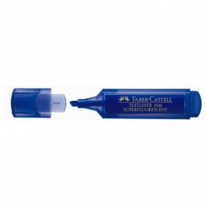 Textmarker Superfluorescent 1546 Faber Castell - albastru