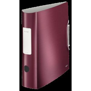 Biblioraft polyfoam PP, 7.5cm, grena, Leitz 180° Active Style - ACOMI.ro