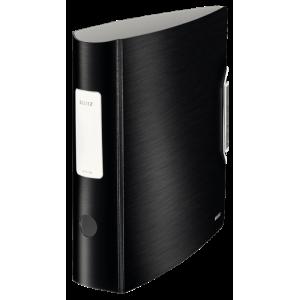 Biblioraft polyfoam PP, 7.5cm, negru satin, Leitz 180° Active Style - ACOMI.ro
