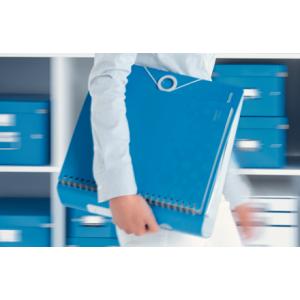 Biblioraft polyfoam PP, 7.5cm, albastru metalizat, Leitz 180° Active Wow - ACOMI.ro