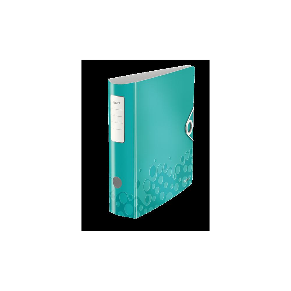 Biblioraft polyfoam PP, 7.5cm, turcoaz metalizat, Leitz 180° Active Wow - ACOMI.ro