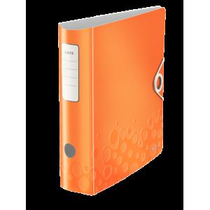 Biblioraft polyfoam PP, 7.5cm, portocaliu metalizat, Leitz 180° Active Wow - ACOMI.ro