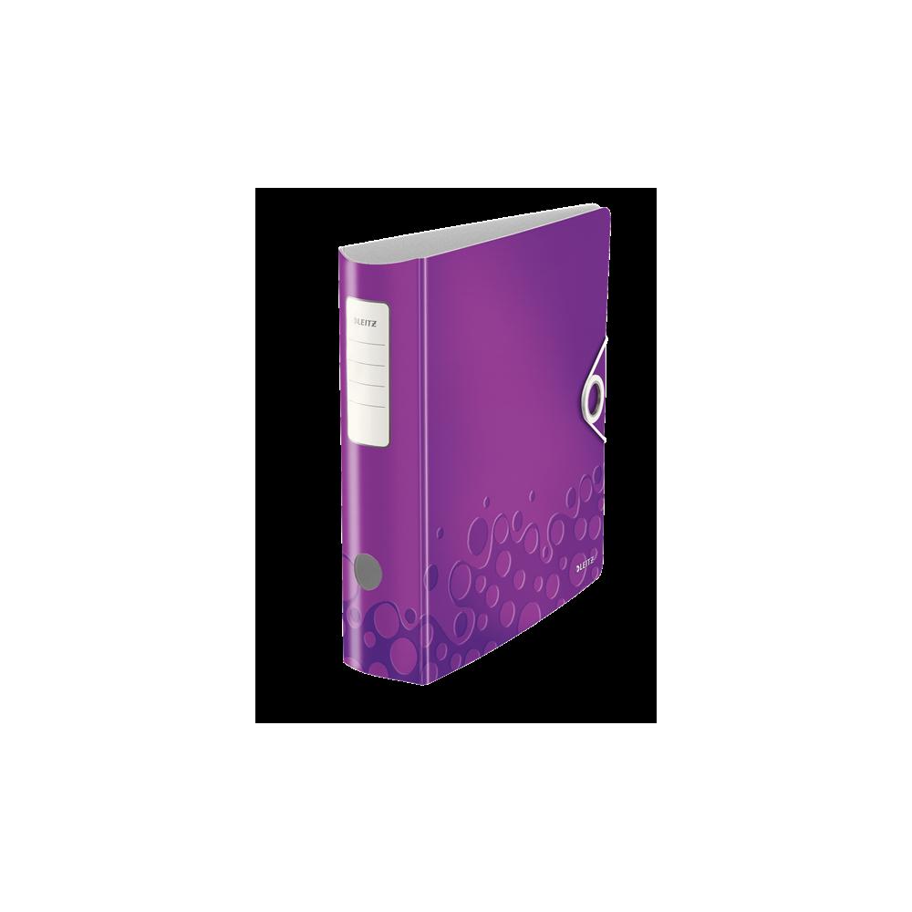 Biblioraft polyfoam PP, 7.5cm, mov metalizat, Leitz 180° Active Wow - ACOMI.ro