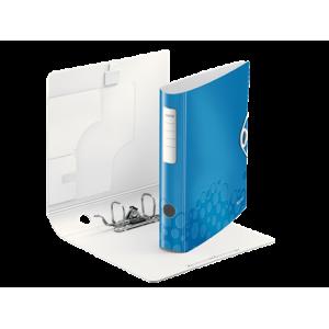 Biblioraft polyfoam PP, 5.0cm, albastru metalizat, Leitz 180° Active Wow - ACOMI.ro