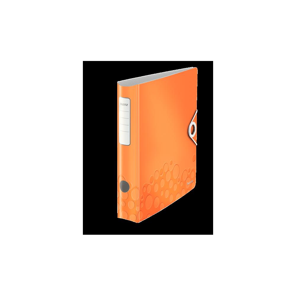Biblioraft polyfoam PP, 5.0cm, portocaliu metalizat, Leitz 180° Active Wow - ACOMI.ro