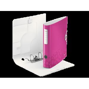 Biblioraft polyfoam PP, 5.0cm, roz metalizat, Leitz 180° Active Wow - ACOMI.ro