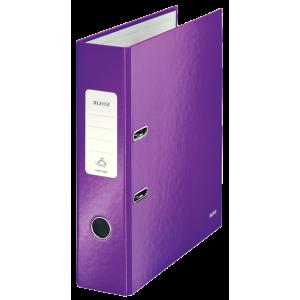 Biblioraft carton laminat, 8.5cm, mov, Leitz 180° Wow - ACOMI.ro
