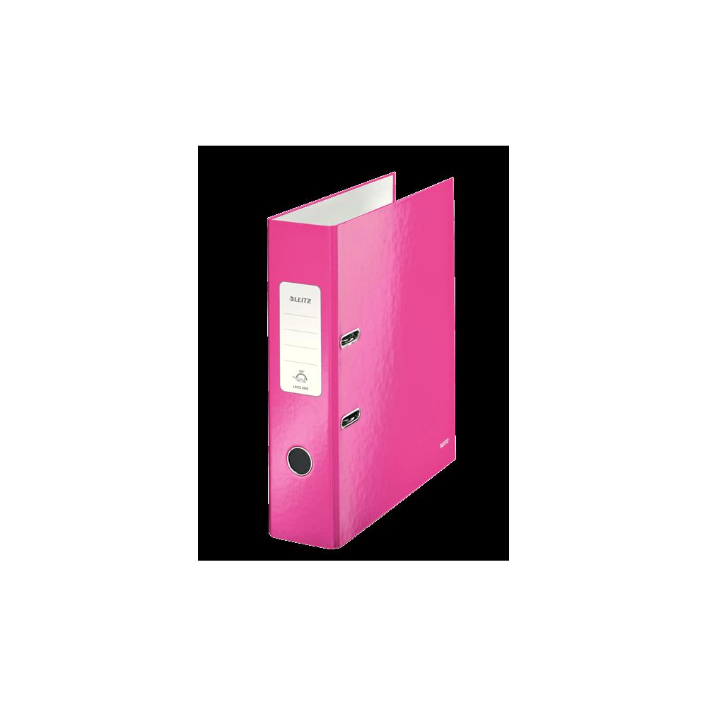Biblioraft carton laminat, 8.5cm, roz metalizat, Leitz 180° Wow - ACOMI.ro