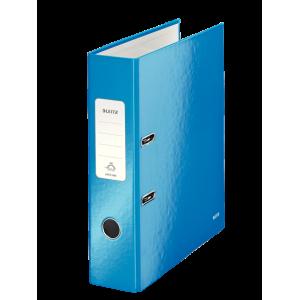 Biblioraft carton laminat, 8.5cm, albastru metalizat, Leitz 180° Wow - ACOMI.ro