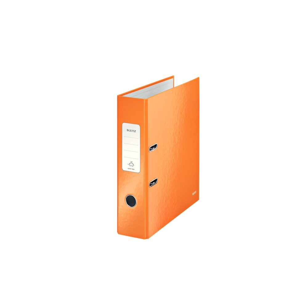 Biblioraft carton laminat, 8.5cm, portocaliu metalizat, Leitz 180° Wow - ACOMI.ro