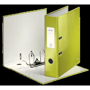 Biblioraft carton laminat, 8.5cm, verde metalizat, Leitz 180° Wow - ACOMI.ro