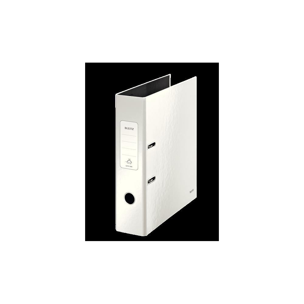 Biblioraft carton laminat, 8.5cm, alb, Leitz 180° Wow - ACOMI.ro