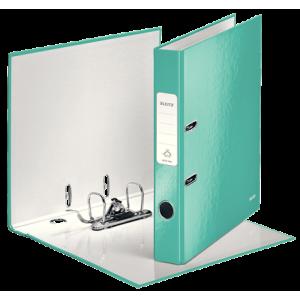 Biblioraft carton laminat, 5.0cm, turcoaz, Leitz 180° Wow - ACOMI.ro