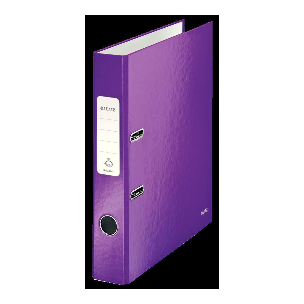Biblioraft carton laminat, 5.0cm, mov, Leitz 180° Wow - ACOMI.ro