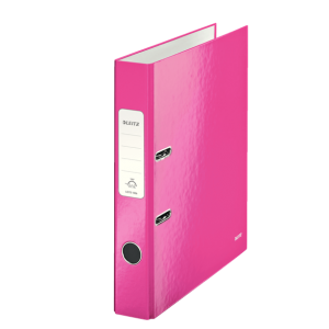 Biblioraft carton laminat, 5.0cm, roz metalizat, Leitz 180° Wow - ACOMI.ro