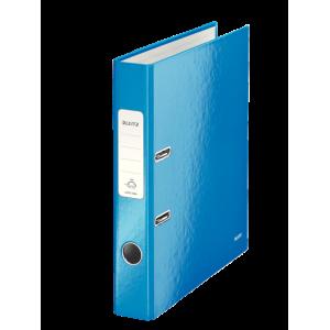 Biblioraft carton laminat, 5.0cm, albastru metalizat, Leitz 180° Wow - ACOMI.ro
