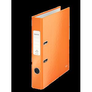 Biblioraft carton laminat, 5.0cm, portocaliu metalizat, Leitz 180° Wow - ACOMI.ro