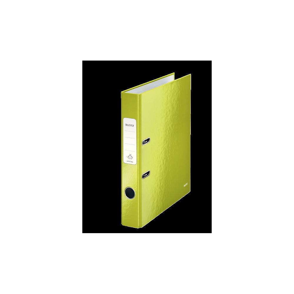 Biblioraft carton laminat, 5.0cm, verde metalizat, Leitz 180° Wow - ACOMI.ro