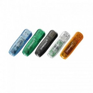 USB Flash Drive 32GB, transparent, Rainbow Line INTENSO - ACOMI.ro