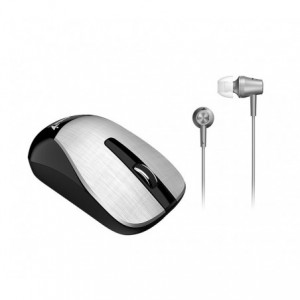 Kit Mouse Wireless + Casti Genius MH-8015, silver - ACOMI.ro
