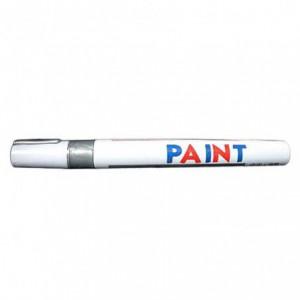 Marker cu vopsea TOYO 101, corp metalic, vf. M rotund 2-4 mm alb