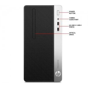 Desktop HP ProDesk 400 G4 Microtower + Monitor 20,7 V213a, Intel Core i5-7500 - ACOMI.ro