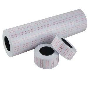 Etichete pret albe, 1 linie, 21x12 mm, 300 buc/rola, 10 role/set - ACOMI.ro